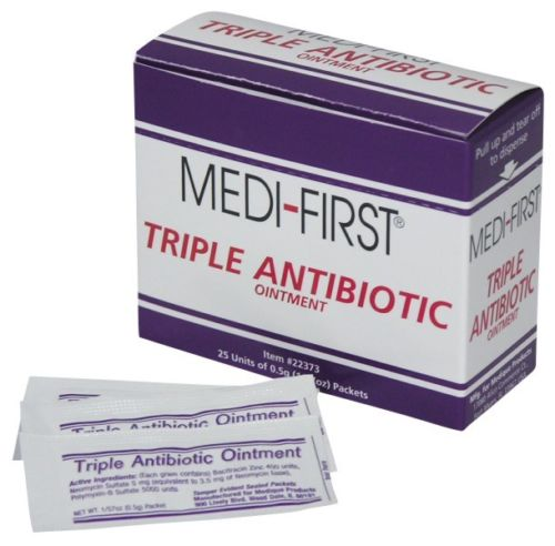 Medique 22373 Medi-First .5 g Antibiotic Cream Packet - 25/Box