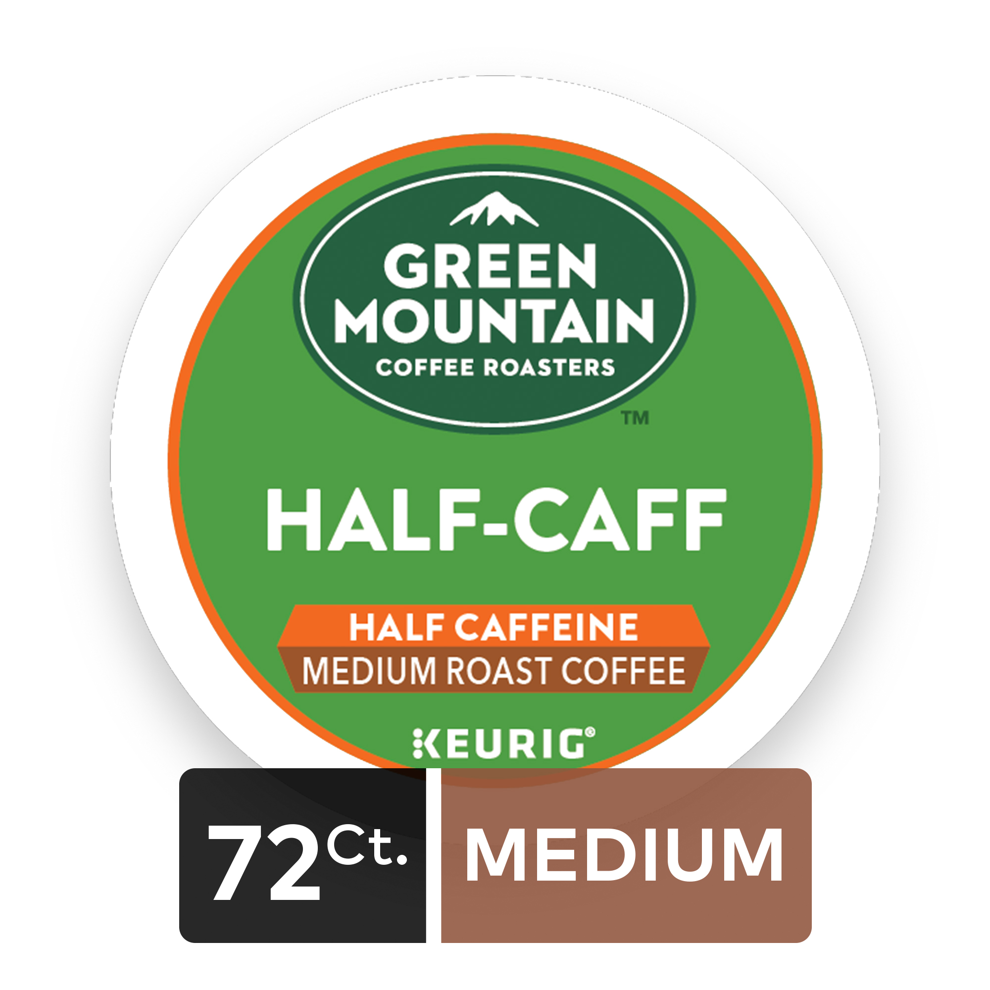 (4 Pack) Green Mountain Coffee Half Caff, Keurig K-Cup Pods, Medium Roast, 18 Count