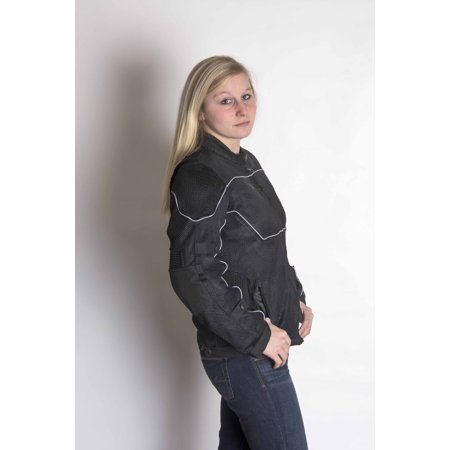 RoadDog Hurricane Mesh Jacket - Motorcycle Riding Jacket - Black - Women's