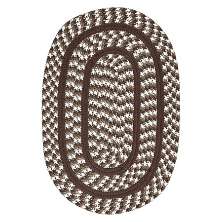 Chocolate Antique Round Rug - Crescent Braided Rug 7-Piece Set with Room Size Rug and Accessories, Chocolate