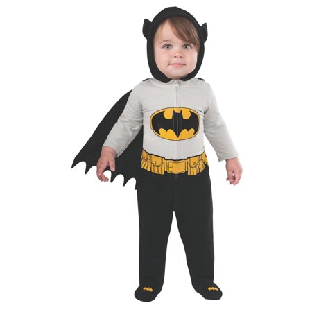 Batman Infants Dc Comics Superhero Romper Halloween Costume-6-12](Superhero Infant Costume)