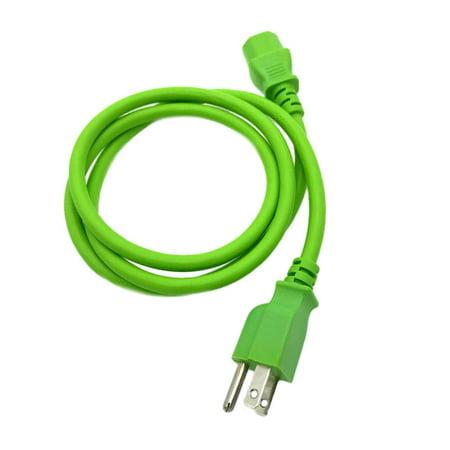 Kentek 4 FT Green 3 Prong Universal AC Power Cable Cord for PC Computer Monitor Printer - Christmas Lights For Computer Monitor