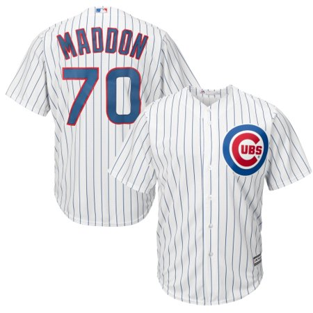 Joe Johnson Jersey - Joe Maddon Chicago Cubs Majestic Cool Base Player Jersey - White