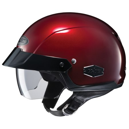 Silver Nebraska Helmet (HJC IS-Cruiser Solid Helmet Wine (Red, X-Small))