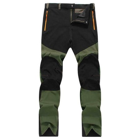 Mens Casual Waterproof Outdoor Hiking Climbing Combat Trousers Tactical Pants Green Size