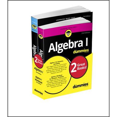 Algebra I Workbook for Dummies with Algebra I for Dummies 3e (Best Way To Learn Algebra)