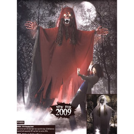 Fun World 10' Tall Hanging Red Fanged - 10 More Days Till Halloween