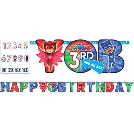 Luau Letter Banner - PJ Masks Jumbo Letter Banner Kit (1ct)