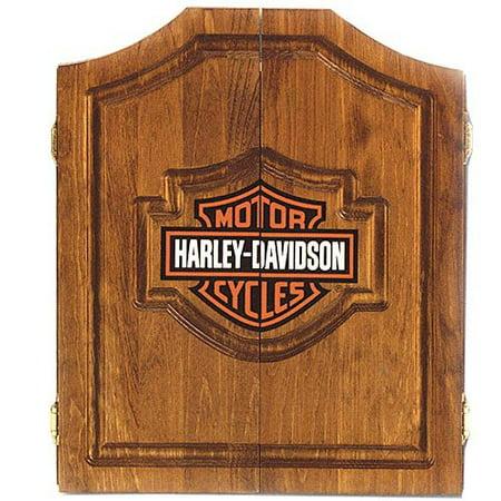 Harley-Davidson Dart Board Cabinet - Oak