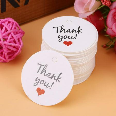 Yosoo 100pcs White Handmade Hang Label Wedding Favor Gift Dessert Tags Clothing Jewelry Price Tag, Homemade Craft Label, Wedding Gift Tag Like Hang Tags