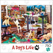 Buffalo Games - Dog Days - Painting Puppies - 750 piece jigsaw puzzle