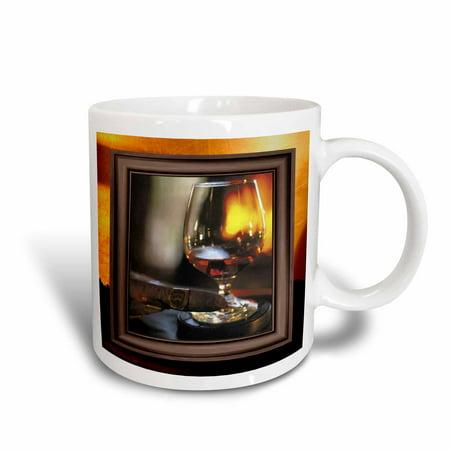 3dRose Cognac and Cuban Cigar, Ceramic Mug,