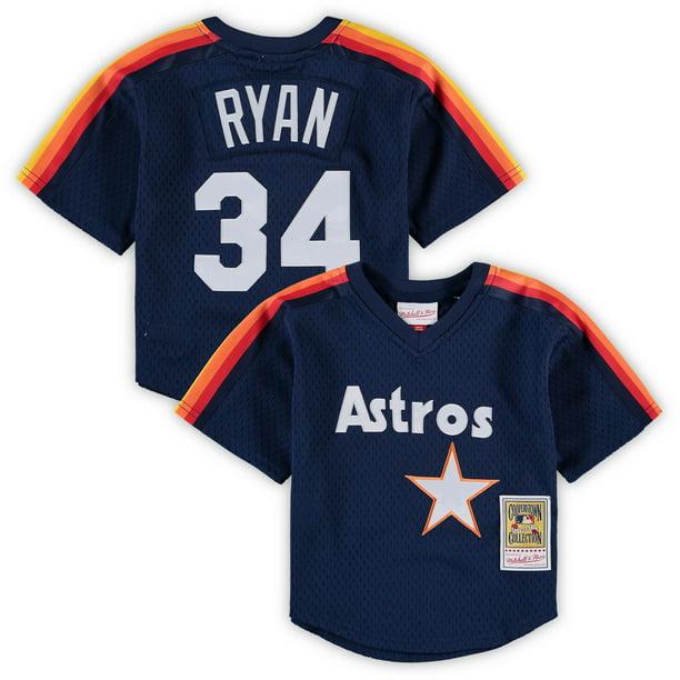 Nolan Ryan Houston Astros Mitchell & Ness Preschool & Toddler Cooperstown Collection Mesh Batting Practice Jersey - Navy