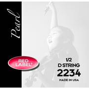 Super Sensitive Red Label Pearl Nylon Core Violin D String 1/2 Size