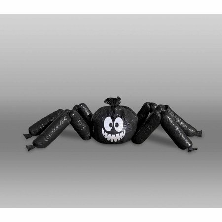 Lawn Bag Spider Halloween Decoration, Black, 1ct