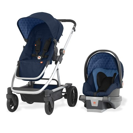 GB Evoq 4 in 1 Infant Safe Car Seat Stroller Compact Travel System, Midnight 4 In Basic System