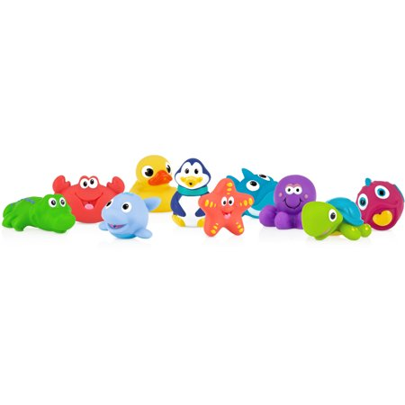 Nuby 10pk Sea Squirters Bath Toys