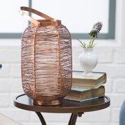 Kiran 15.75 inch Copper Painted Lantern
