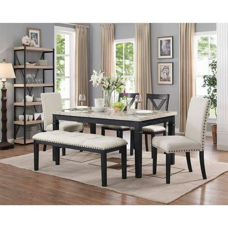 Bradley 6 Piece Dining Table Set - Walmart.com