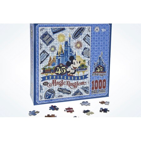 Disney Parks 45th Magic Kingdom Mickey Castle 1000pcs Puzzle New with Box (Disney Magic Kingdom Halloween Tickets)