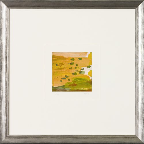 Art Virtuoso Aerial Abstract Squares Framed Painting Print by Art Virtuoso