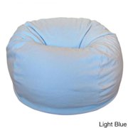 Anti-pill 36-inch Wide Fleece Washable Bean Bag Chair Light Blue