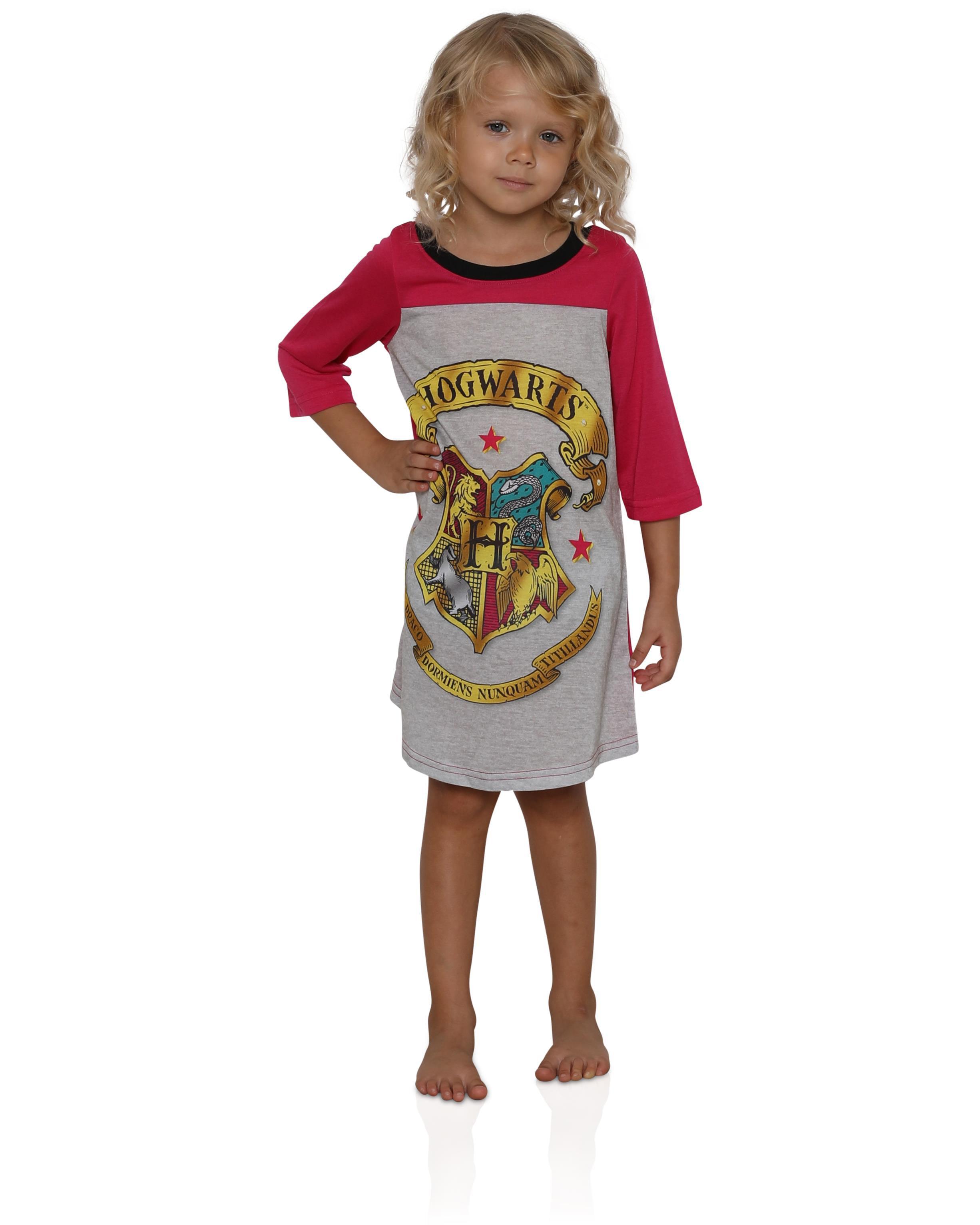 HARRY POTTER Girls Chibi Art Cold Shoulder Nightgown
