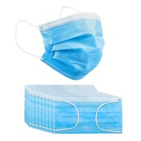 50pcs Disposable Face Mask, Breathable Dust Protection Masks 3-Layper Ear Loop