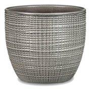 Scheurich USA 256523 4.25 x 4.75 in. Ceramic Indoor Planter, Pimienta Gray - Pack of 6