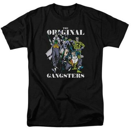 Trevco Dc-Original Gangsters - Short Sleeve Adult 18-1 Tee - Black, Large (Black Ganster)