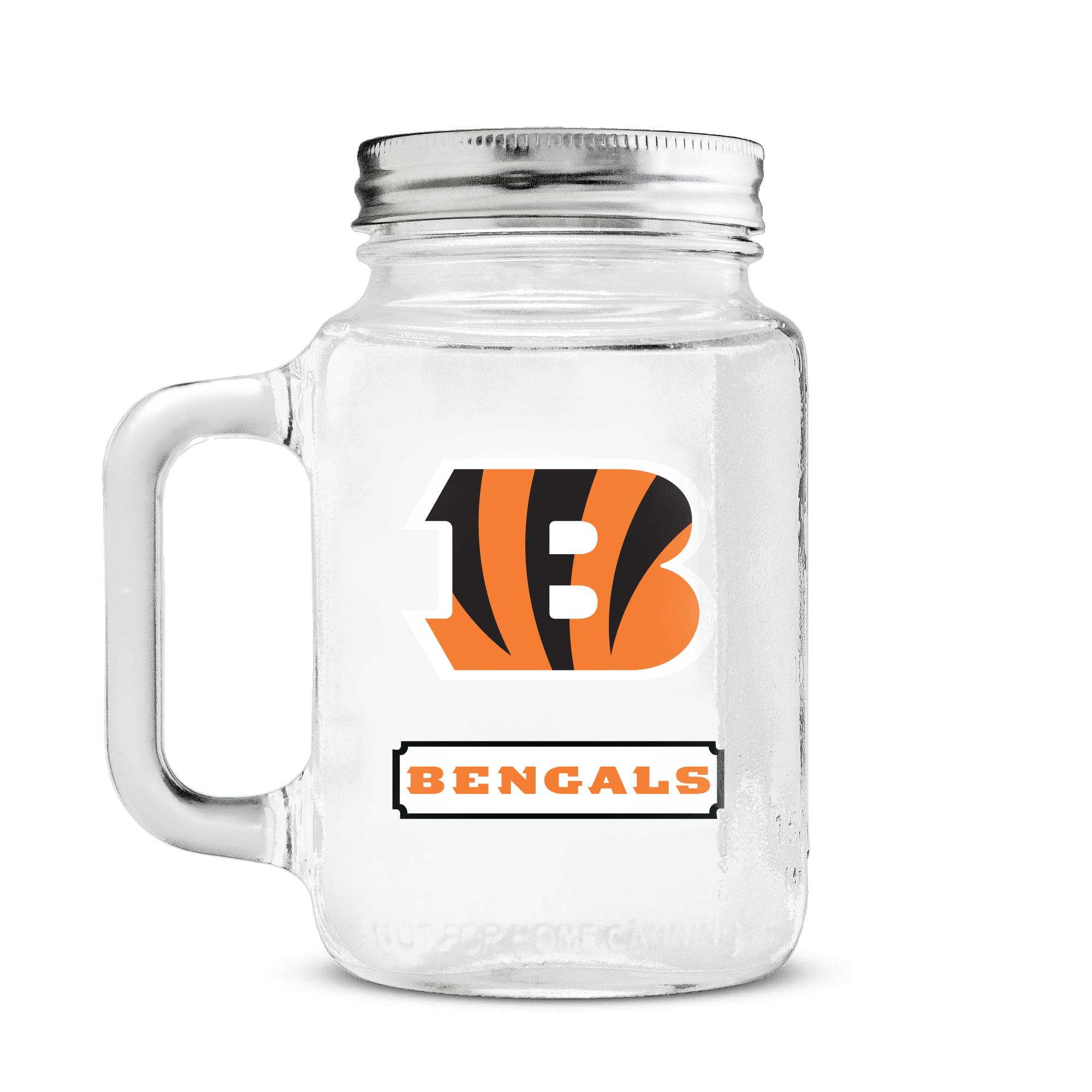 Duckhouse 16 Ounce Mason Jar - Cincinnati Bengals