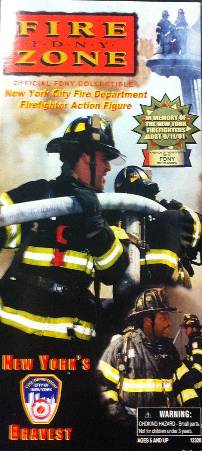 "1 6 Scale Official 9-11 FDNY New York City Fire Department Firefighter 12"" Action Figure, New York City... by"