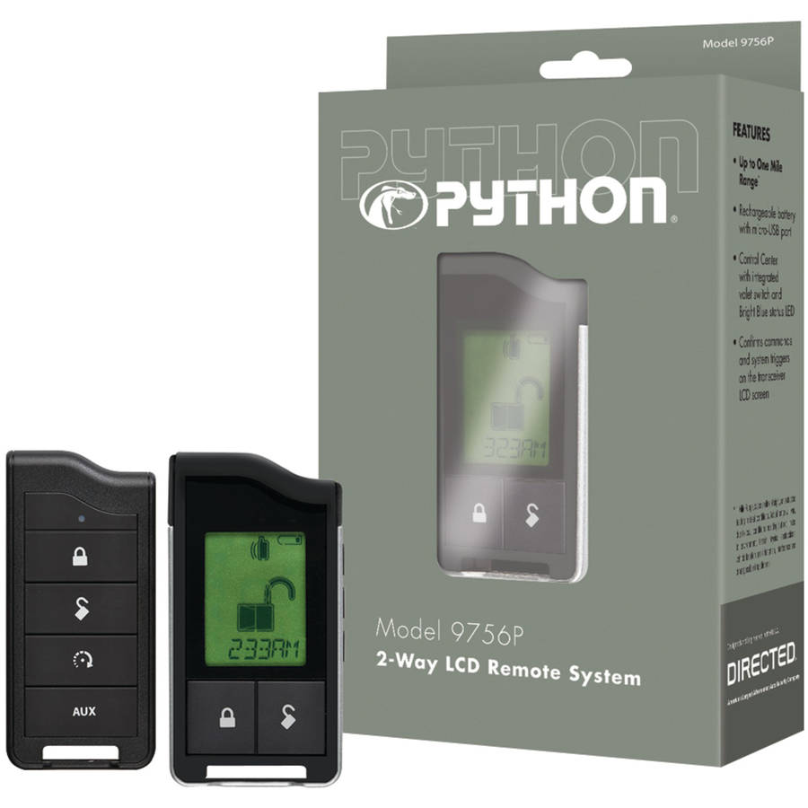Python 9756p 9756p 2-Way LCD RF Remote and Antenna with 1-Mile Range