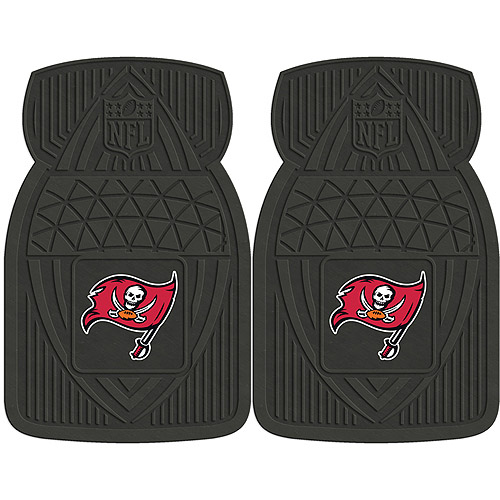 NFL 2-Piece Heavy-Duty Vinyl Car Mat Set, Tampa Bay Buccaneers