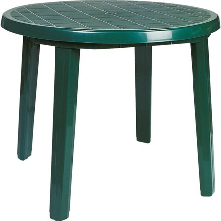 Compamia Ronda 35 5 Round Resin Patio Dining Table In Green