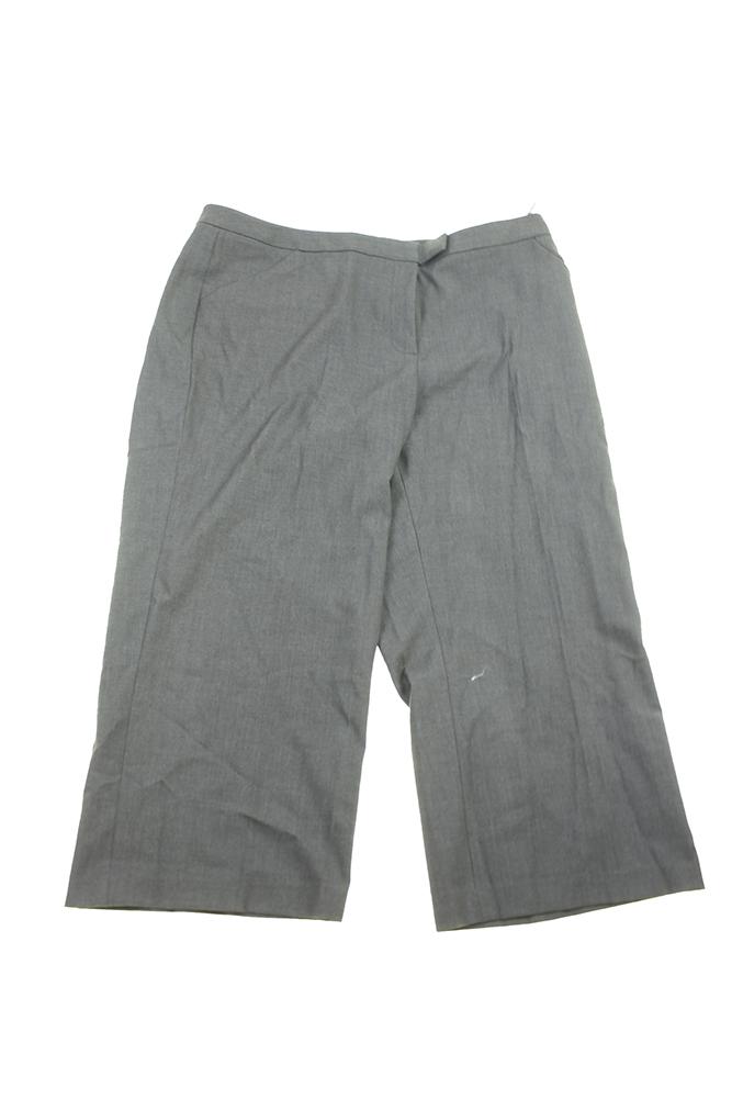 Calvin Klein Plus Size Charcoal Wide-Leg Cropped Trouser Pants 16