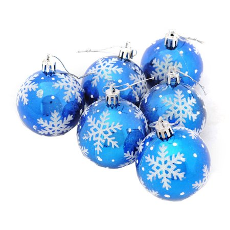 6Pcs Christmas Balls Baubles Party Xmas Tree Decorations Hanging Ornament Decor ()