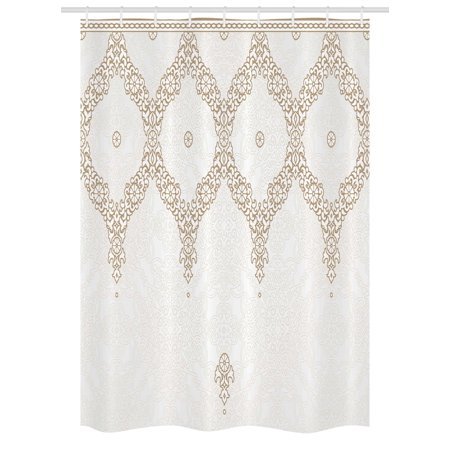 Moroccan Stall Shower Curtain Ornate Background With Traditional Soft Colored Eastern Elements And Pattern