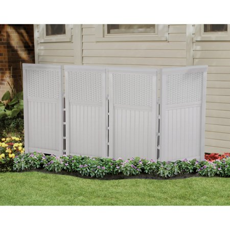1 Outdoor Enclosure - Suncast Wicker 4 Panel Outdoor Screen Enclosure