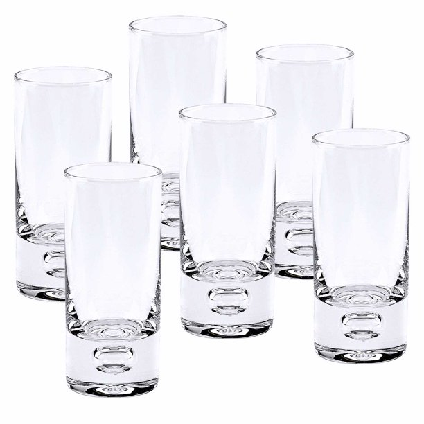 Mouth Blown Crystal 6 Pc Shot Or Vodka Glass Set 3 Oz Walmart Com Walmart Com