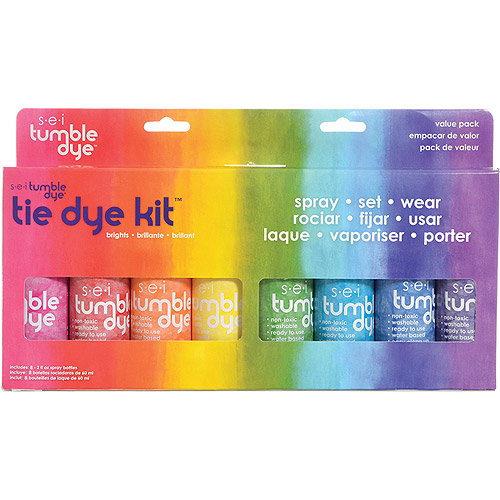 Tumble Dye Craft And Fabric Spray, 2 oz, Mixed Colors, 8/pkg