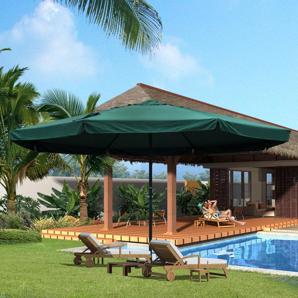 Sundale Outdoor 16 Feet Large Market Patio Umbrella with Cross Base, 8 Aluminum Ribs