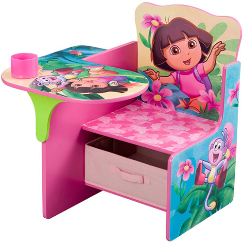 Dora the Explorer Desk & Chair with Storage Bin, 10th Anniversary Edition