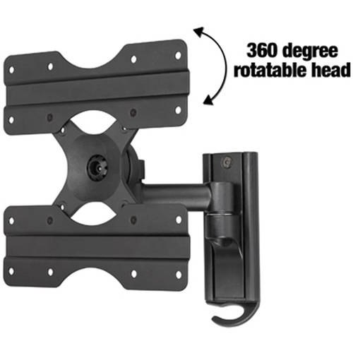 "Ready Set Mount CCR26B 13"" to 37"" Black TV Wall Mount- Full Motion"