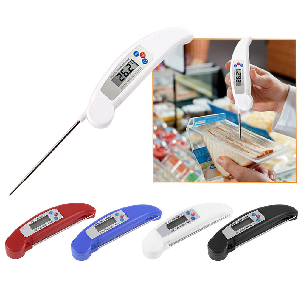 Ultra Instant Read Foldable BBQ Thermometer LCD Digital Cooking Thermometer by