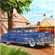En Vogue 8'' x 8'' Classic Car Art Tile in Blue