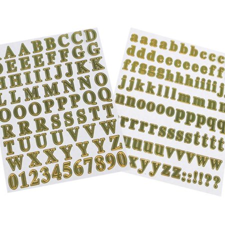 Mini Alphabet & Number Foil Stickers, 179-count (Frozen Sticker By Number)