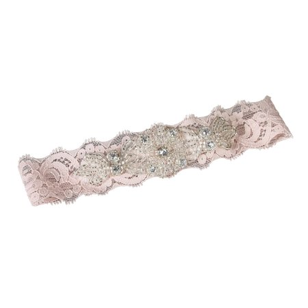 Ivy Lane Design Garter, Medium, Amelia Lace, Pink