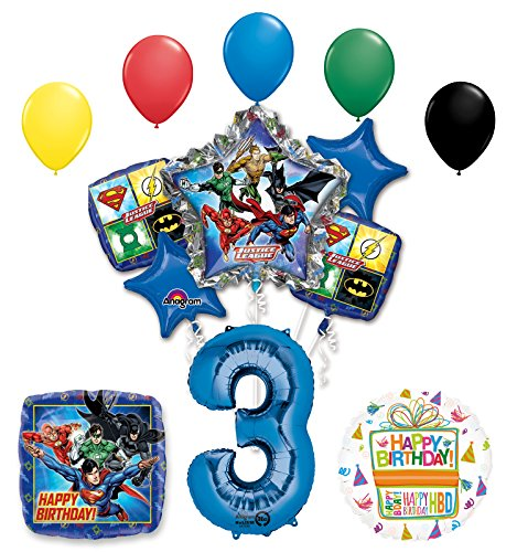 The Ultimate Justice League Superhero 3rd Birthday Party Supplies