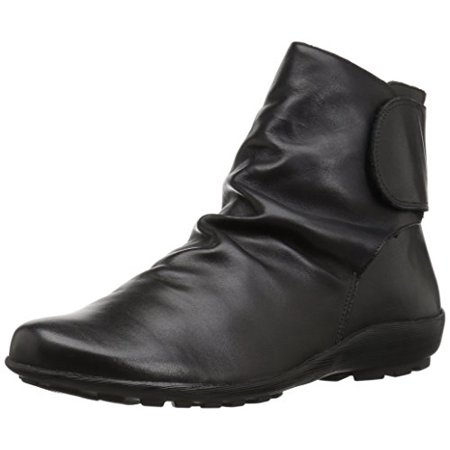 Walking Cradles Women's Harlow Ankle Boot, Black Soft Antique Leather, 5 M US - Leather Fabric Walking Boots